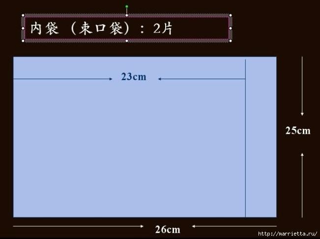 Шьем сами сумочку - корзинку для рукоделия. Выкройка (10) (651x486, 67Kb)
