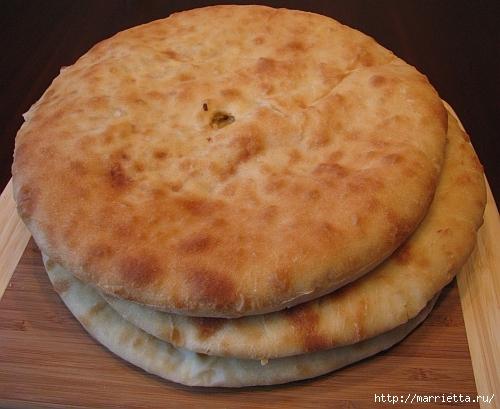 Кабускаджын - осетинский пирог с капустой и сыром (9) (500x409, 170Kb)