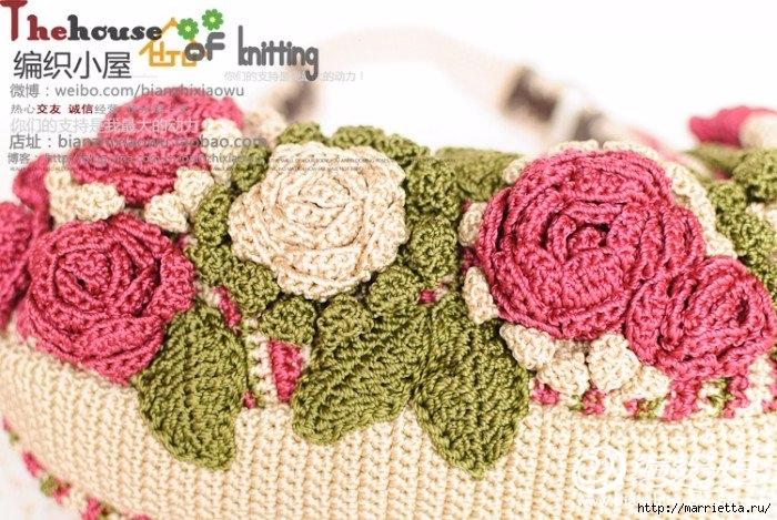 Крючком. Весенняя сумочка с цветами (11) (700x469, 293Kb)