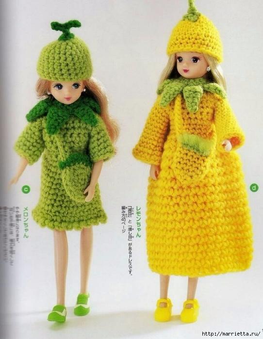 Вязание одежды для маленьких кукол. Журнал со схемами (14) (542x700, 255Kb)