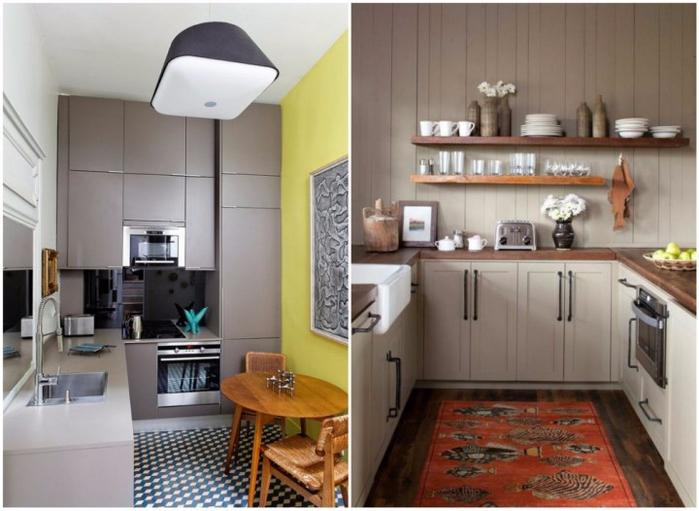 1. Для маленьких прямоугольных кухонь (700x511, 317Kb)