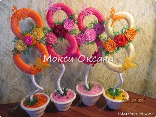 Топиарии «Восьмерки» своими руками к празднику (6) (520x390, 154Kb)