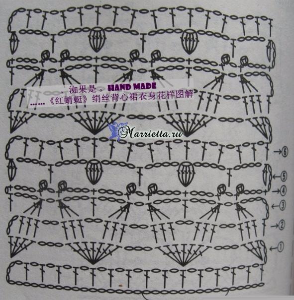 Нарядное платье крючком для маленькой принцессы (2) (591x605, 355Kb)