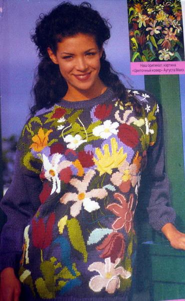 pulover-s-tsvetami-spitsami (370x601, 125Kb)