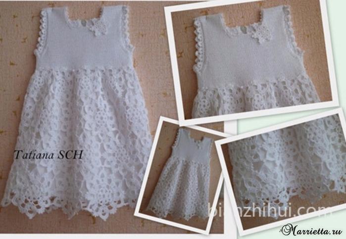 Платье «Белоснежка» крючком для маленькой принцессы (1) (700x483, 310Kb)