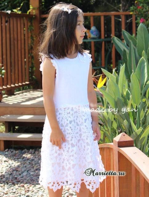 Платье «Белоснежка» крючком для маленькой принцессы (7) (484x641, 325Kb)