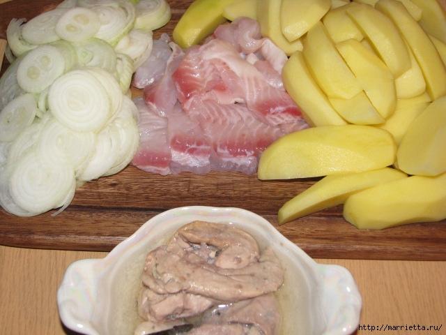 Жаркое с рыбой и печенью трески. Вкусный рецепт (2) (640x480, 185Kb)
