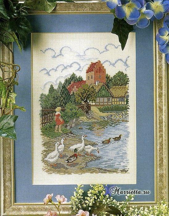 Схема вышивки «На берегу пруда» (1) (548x700, 577Kb)