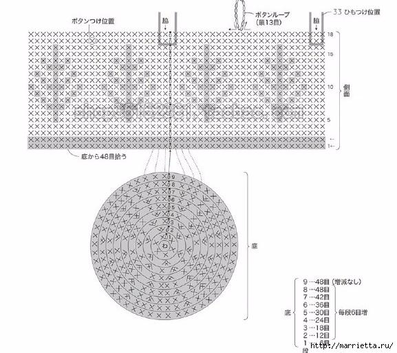 Кашпо для цветов и корзинки крючком (6) (577x513, 182Kb)