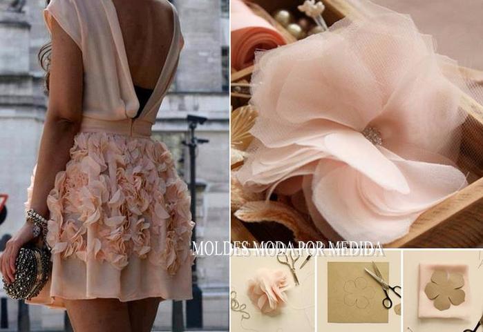 Декор платья цветами своими руками
