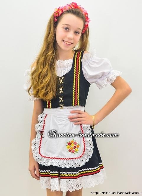 Для утренника. Платье для девочки «Немецкий Октоберфест» (1) (481x663, 170Kb)
