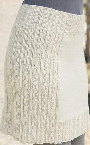 Юбки вязанные спицами со схемами для женщин