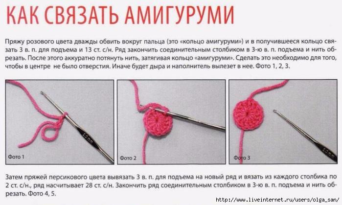 Амигуруми основы вязания крючком 37