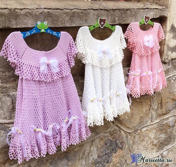 Нарядное платьице крючком для маленькой принцессы (9) (620x587, 542Kb)