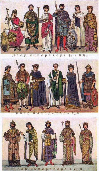 Костюм Византии