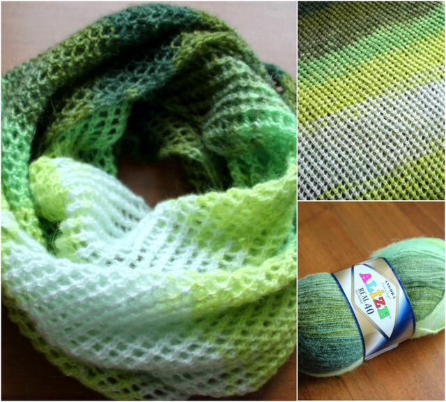 Вязание шарфа из ниток 89