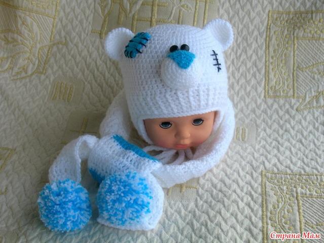 Вязание для детей до года шапочки девочка 926