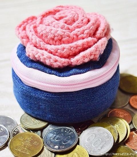 Шьем кошелек из джинсов с вязаной крючком розой (23) (479x547, 234Kb)