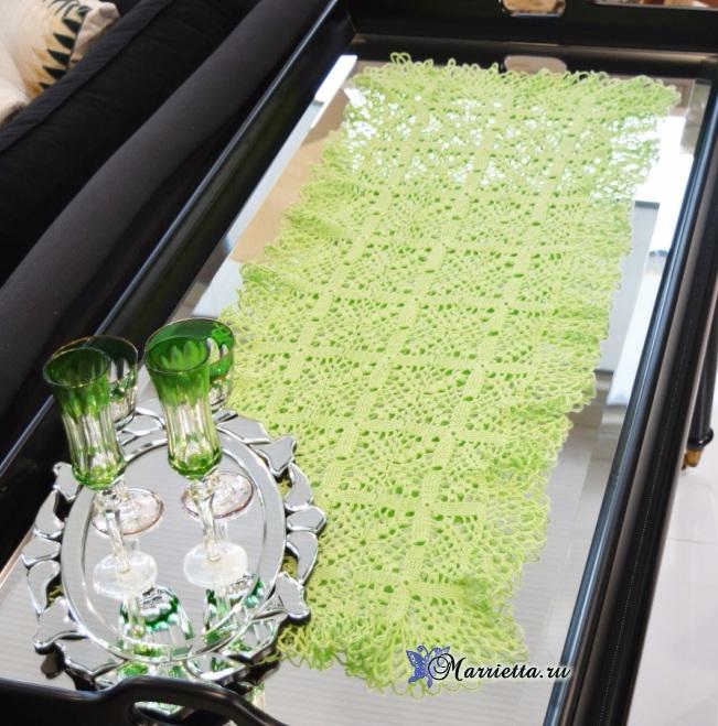 Декоративная салфетка для журнального столика. Крючком (2) (651x659, 457Kb)