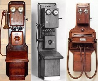 Слева и в центре - первый телефон Белла (335x276, 43Kb)
