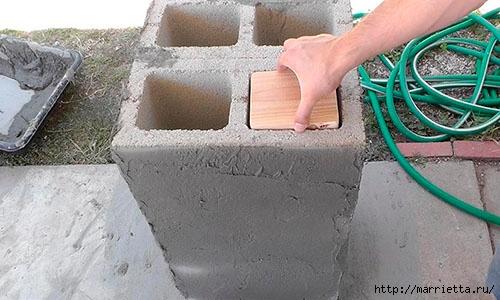 Для сада. Скамейки из блоков и досок (21) (500x300, 118Kb)