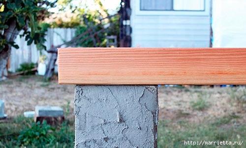 Для сада. Скамейки из блоков и досок (25) (500x301, 113Kb)
