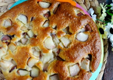 пирог с персиками 1 (450x318, 170Kb)