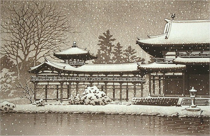 686_Evening_snow_at_byodoin_temple (681x439, 119Kb)