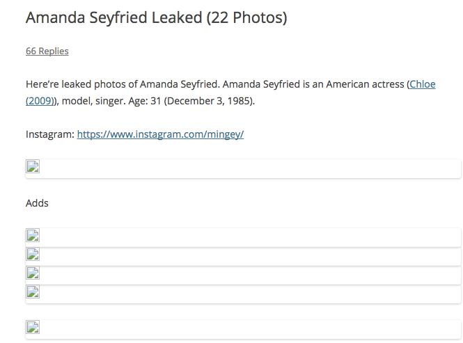 Украдены приватные фотографии Эммы Уотсон, Аманды Сайфред и других знаменитостей!