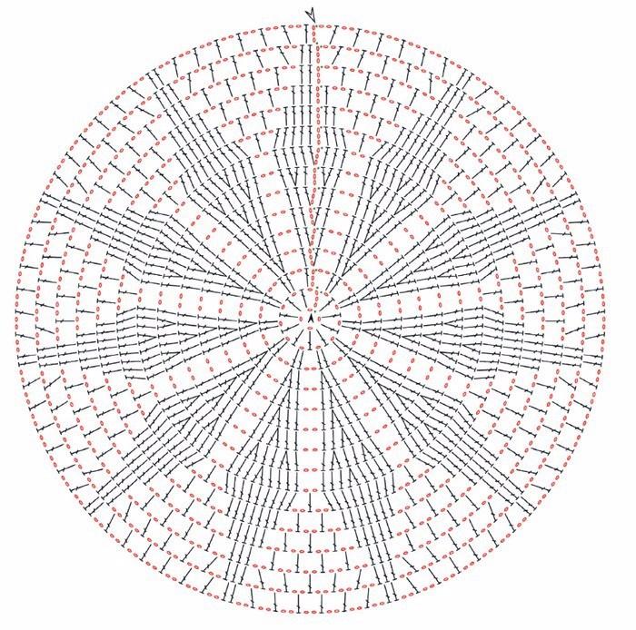 Вязание круглого половика крючком 25