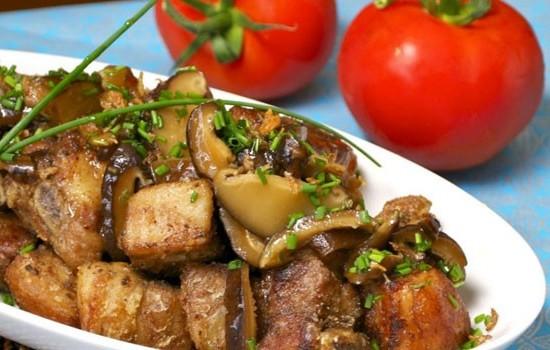 Блюда из мяса с указанием калорий