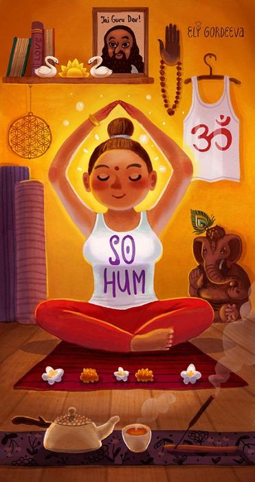 Элина Гордеева иллюстрации йога 12 (371x700, 315Kb)