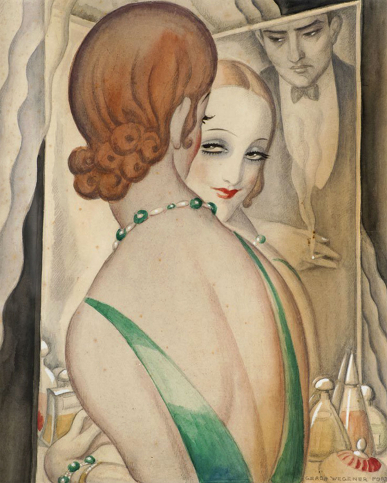 Gerda Wegener At the mirror, 1931-1936 (560x700, 391Kb)