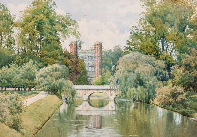 Колледж св. Иоанна в Кембридже, вид сзади (St John's College, Cambridge, from the Backs). 1905 (656x458, 421Kb)