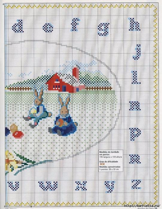Миниатюрная вышивка крестом. Пасхальная тема (9) (541x700, 359Kb)