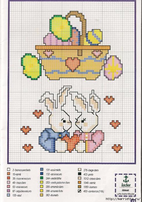 Миниатюрная вышивка крестом. Пасхальная тема (31) (493x700, 334Kb)