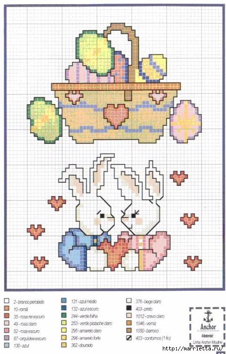 Миниатюрная вышивка крестом. Пасхальная тема (35) (447x700, 265Kb)