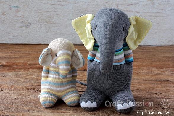 Шьем игрушки из носков - СЛОНИКИ (1) (588x392, 179Kb)