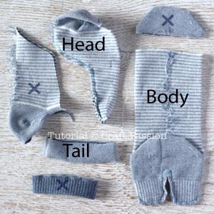 Шьем игрушки из носков - СЛОНИКИ (7) (300x300, 93Kb)