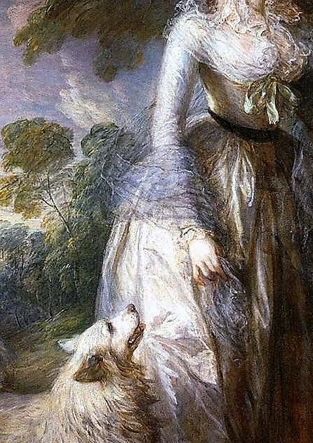 Томаса Гейнсборо     «Утренняя прогулка»    1785,  фрагмент (446x630, 165Kb)
