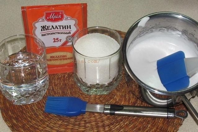 Желатиновая глазурь для торта