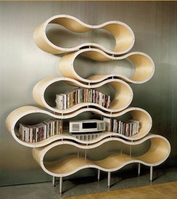 дизайнерские идеи интерьера: Неординарные дизайнерские идеи книжных полок. Обсуждение
