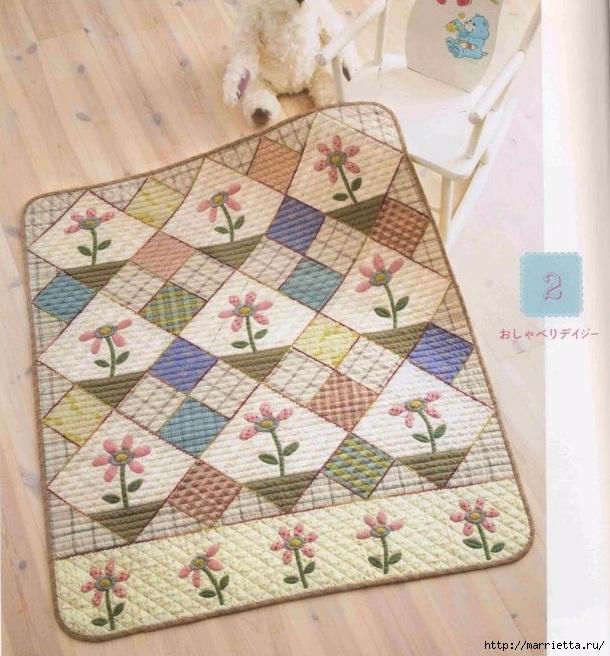 Детское лоскутное одеяло. Японский журнал (30) (610x656, 281Kb)