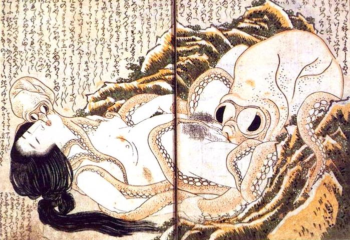 Гигантский осьминог украсил ягодицы девушки (фото)
