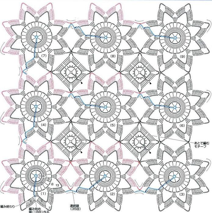 Непрерывное вязание схемы крючок 637