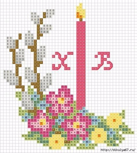 Вышивка крестом к пасхе схемы