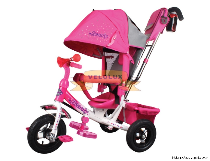 "alt=""Велосипеды трёхколёсные TRIKE Beauty  для маленьких девочек""/2835299_VELOLUKSkolyaskavelosiped (700x534, 150Kb)"