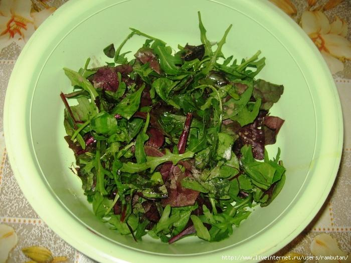 салат с рукколой и тыквой