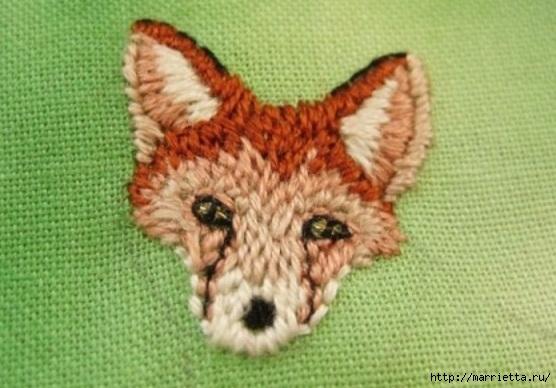 Панно с лисичкой. Вышиваем гладью (22) (556x388, 144Kb)