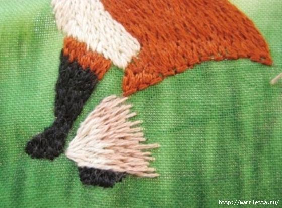 Панно с лисичкой. Вышиваем гладью (32) (560x412, 162Kb)